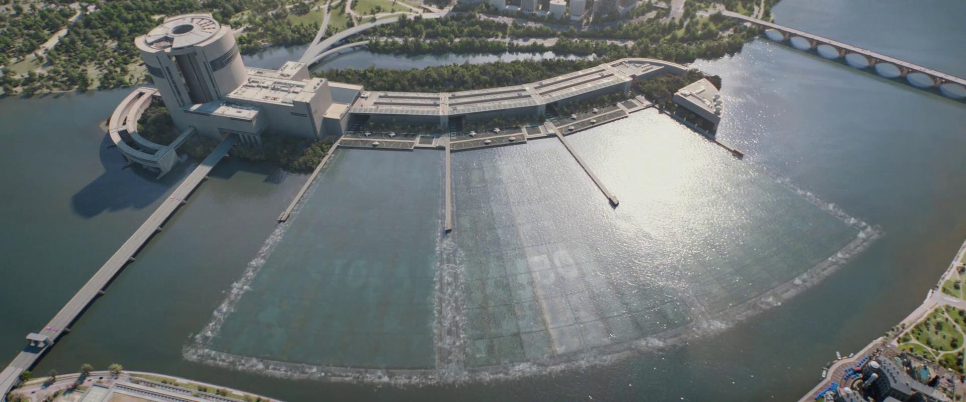 Captain America: Winter Soldier  (2014), hanger roofs begin to open.