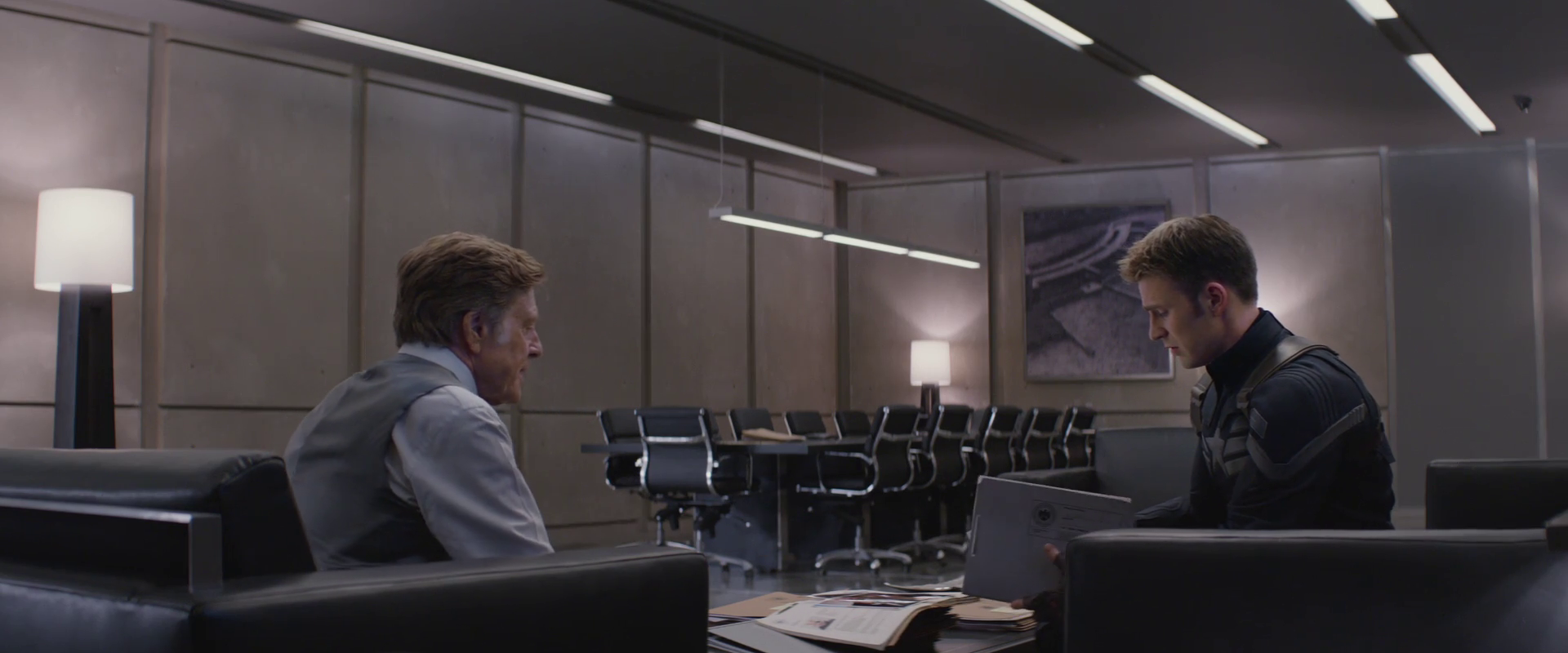 Captain America: Winter Soldier  (2014), Pierce's office.