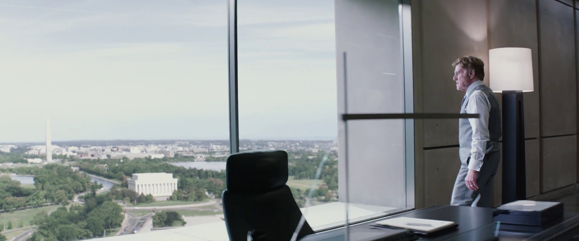 Captain America: Winter Soldier  (2014), Pierce's office, view east to the Lincoln Memorial.
