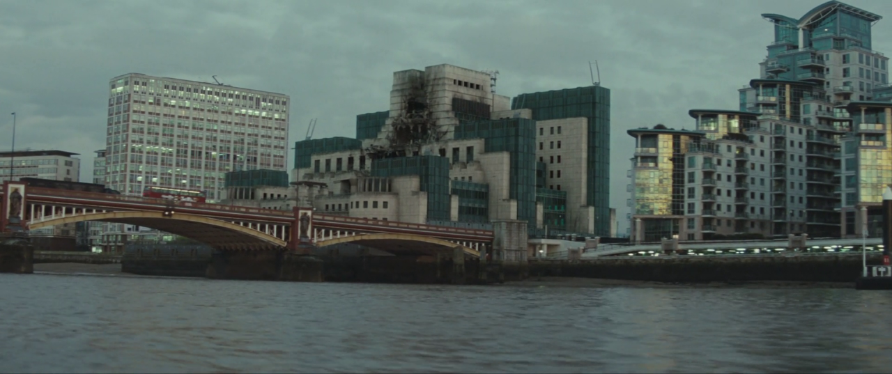 Spectre  (2015), post-explosion SIS Building.
