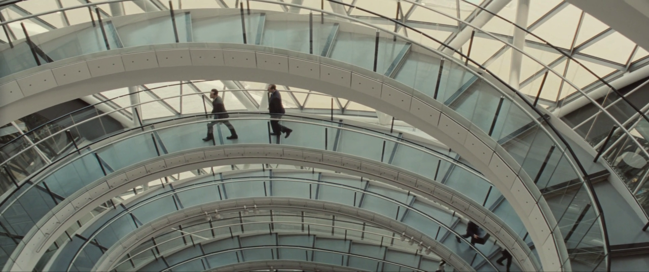Spectre  (2015), CNS Building inner stairs.