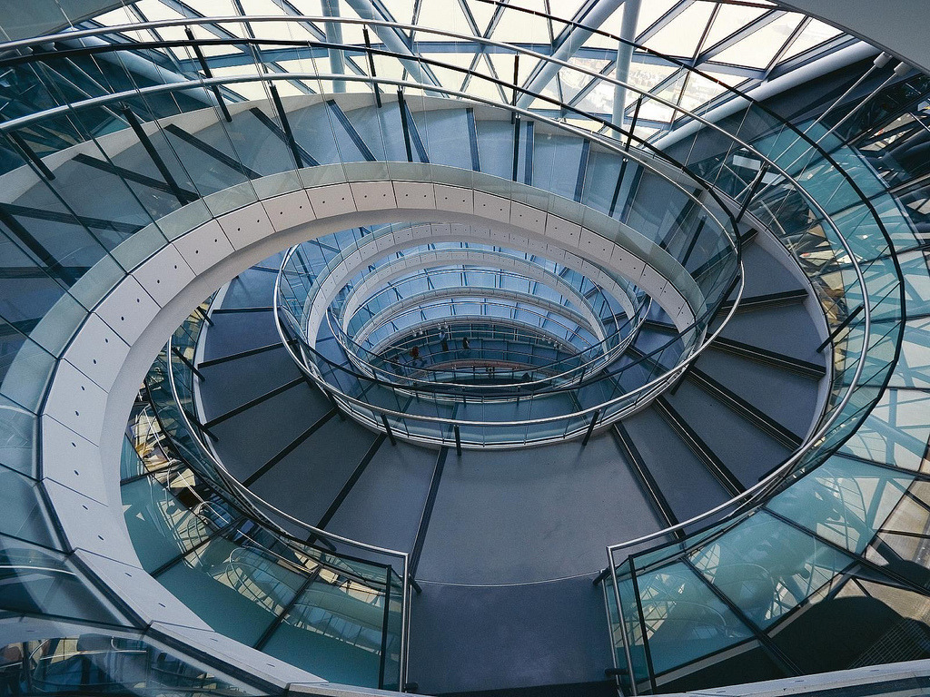 London City Hall, central stairs.