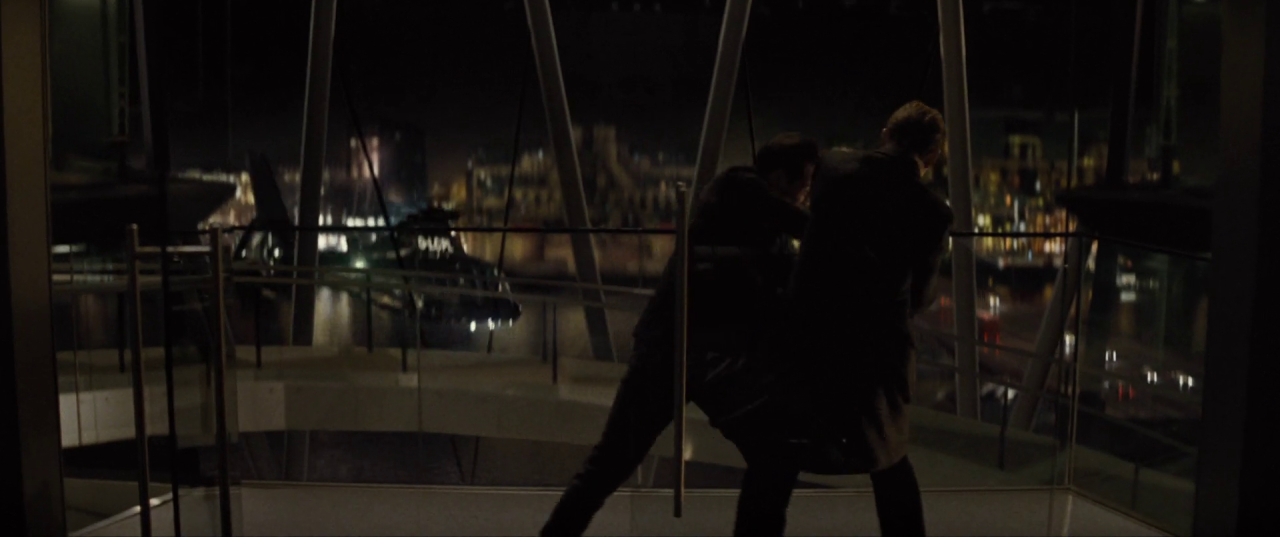 Spectre  (2015), M & C's fight at the CNS Building.