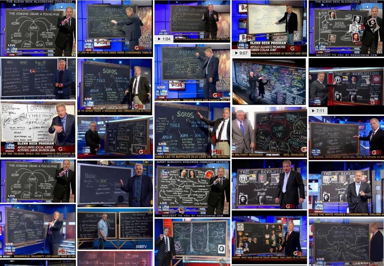 Google image search of Glenn Beck boards (2017)