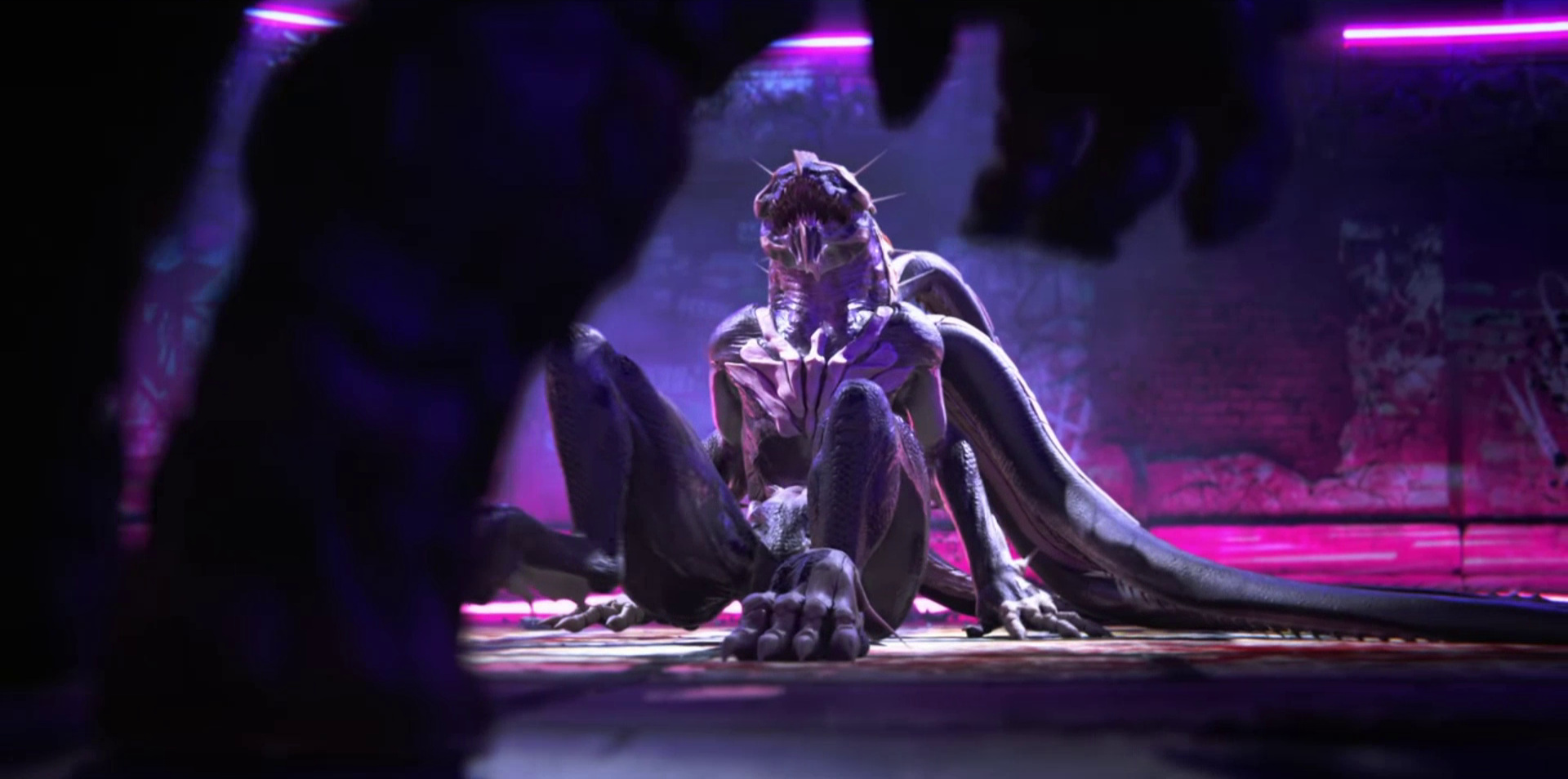 """Sonnie's Edge,""  Love Death + Robots  (Netlfix, 2019), predatory stalking, with Khanivore on the ground"