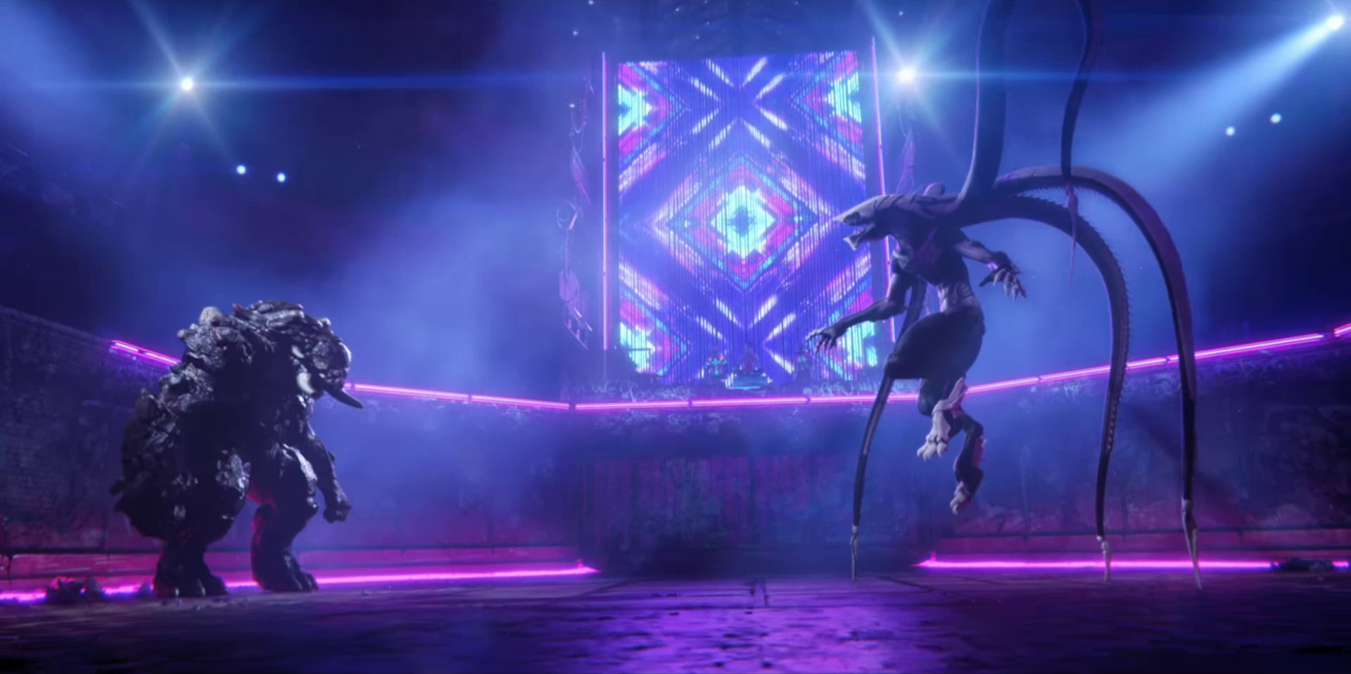 """Sonnie's Edge,""  Love Death + Robots  (Netlfix, 2019), Khanivore's tentacles revealed"