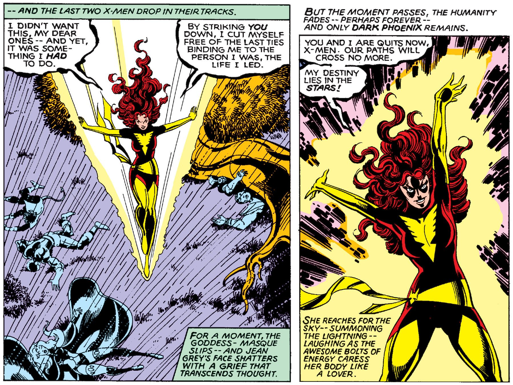 Uncanny X-Men  #135 (Marvel, July 1980), page 7, power compared to the touch of a lover