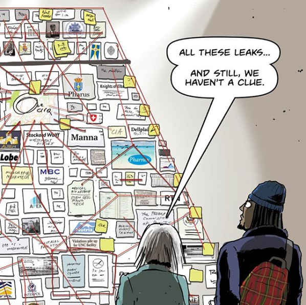"""From the conspiracy-laden webcomic """"Regolith"""" by @danmeth"""