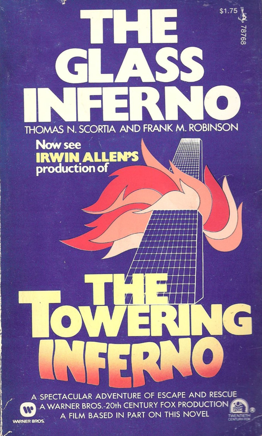 The Glass Inferno  (1974), movie tie-in cover