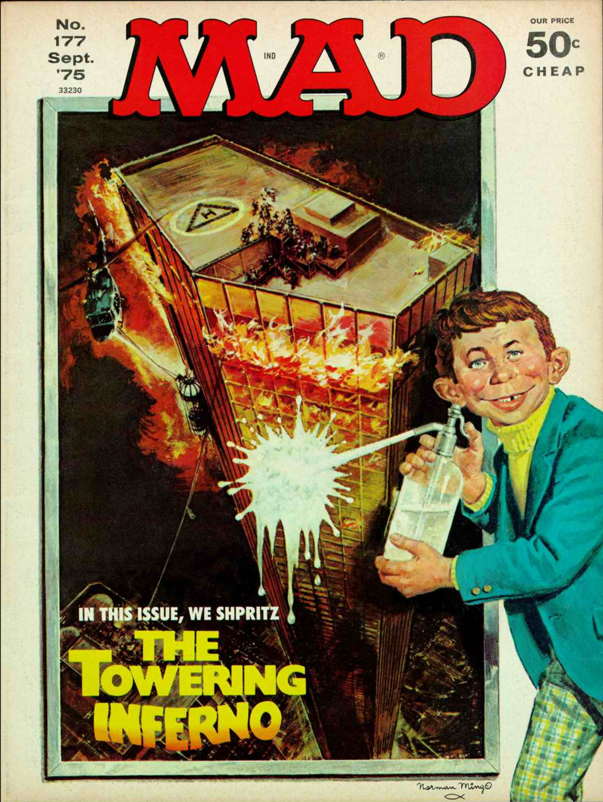 Mad  #177 (September 1975), cover