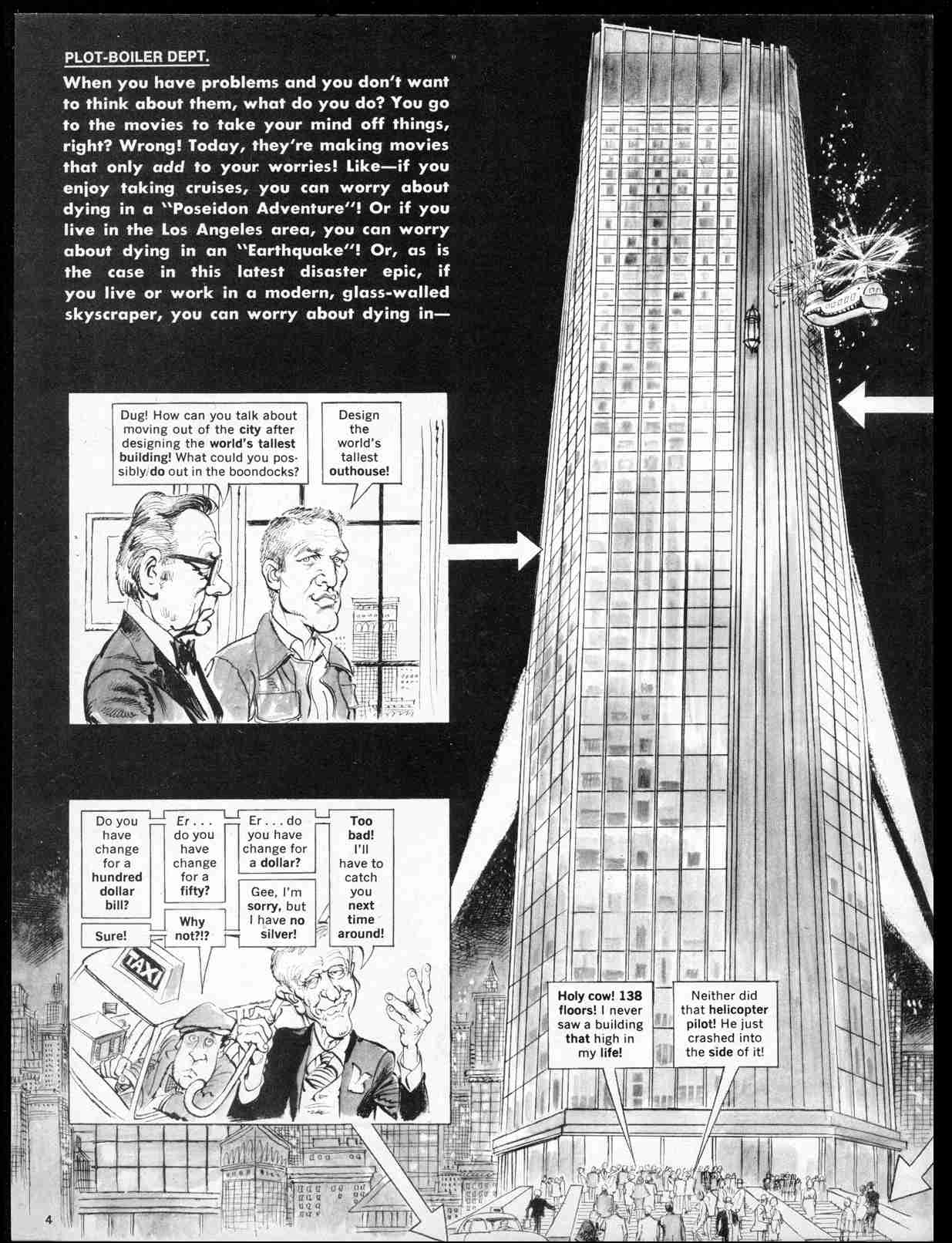 "Mad  #177 (September 1975), ""The Towering Sterno,"" 4"