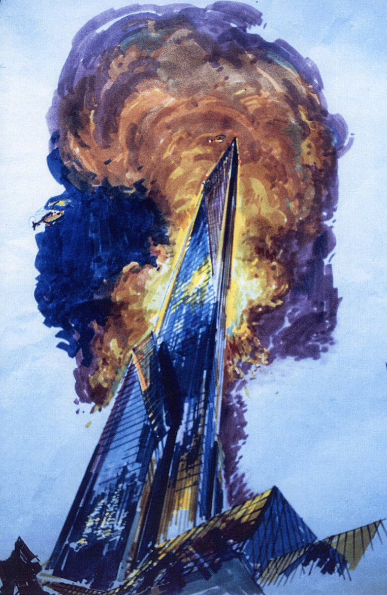 The Towering Inferno , production art