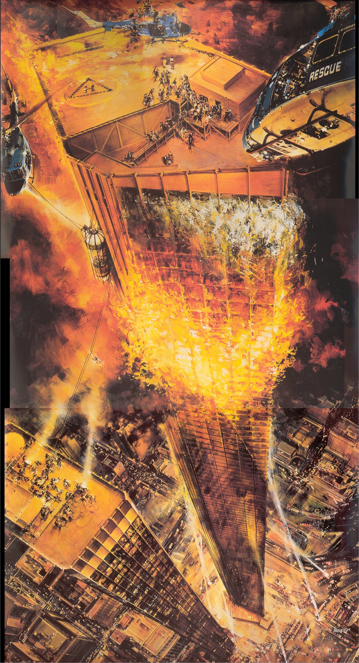The Towering Inferno , promotional painting