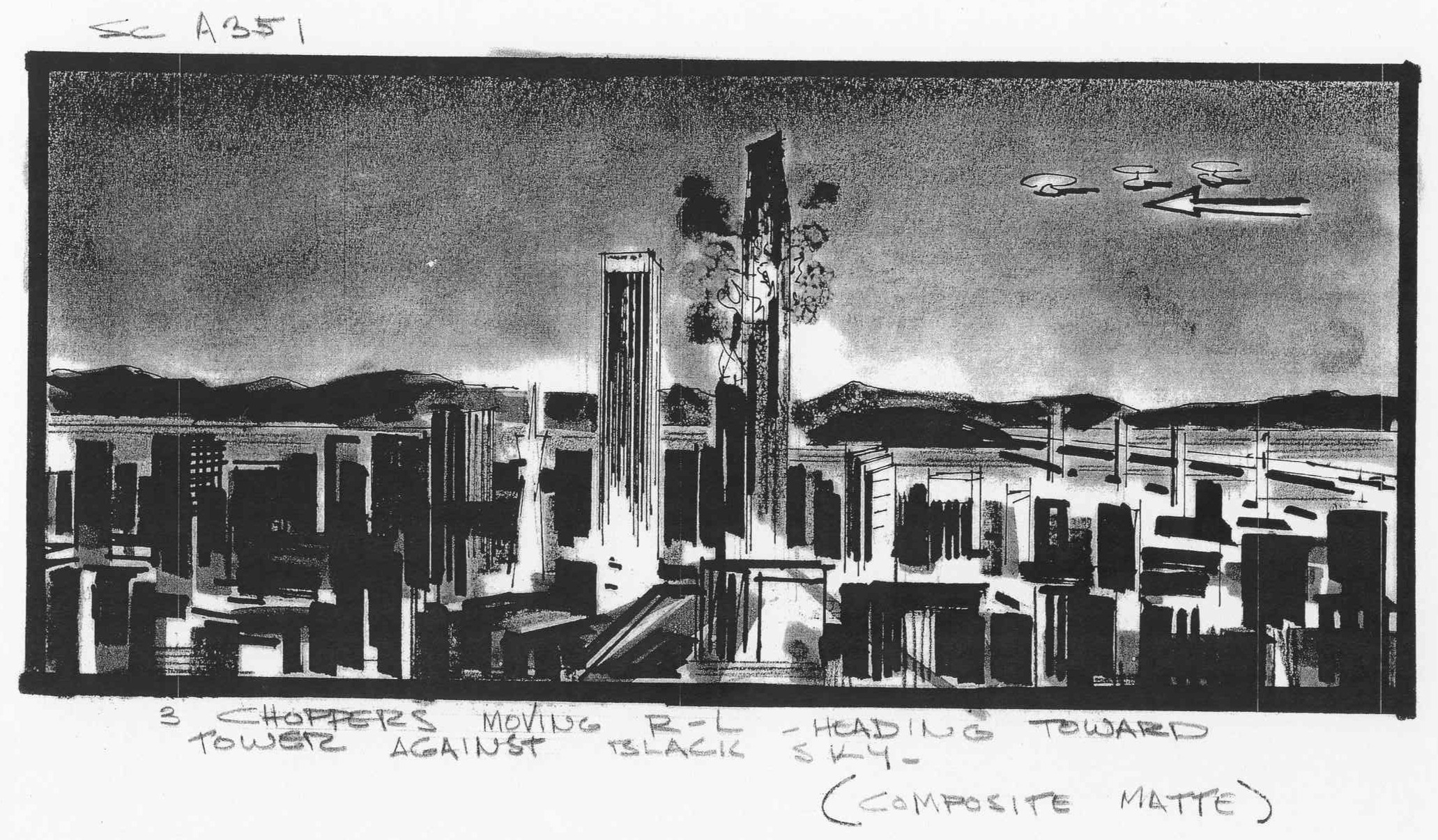 The Towering Inferno , storyboard