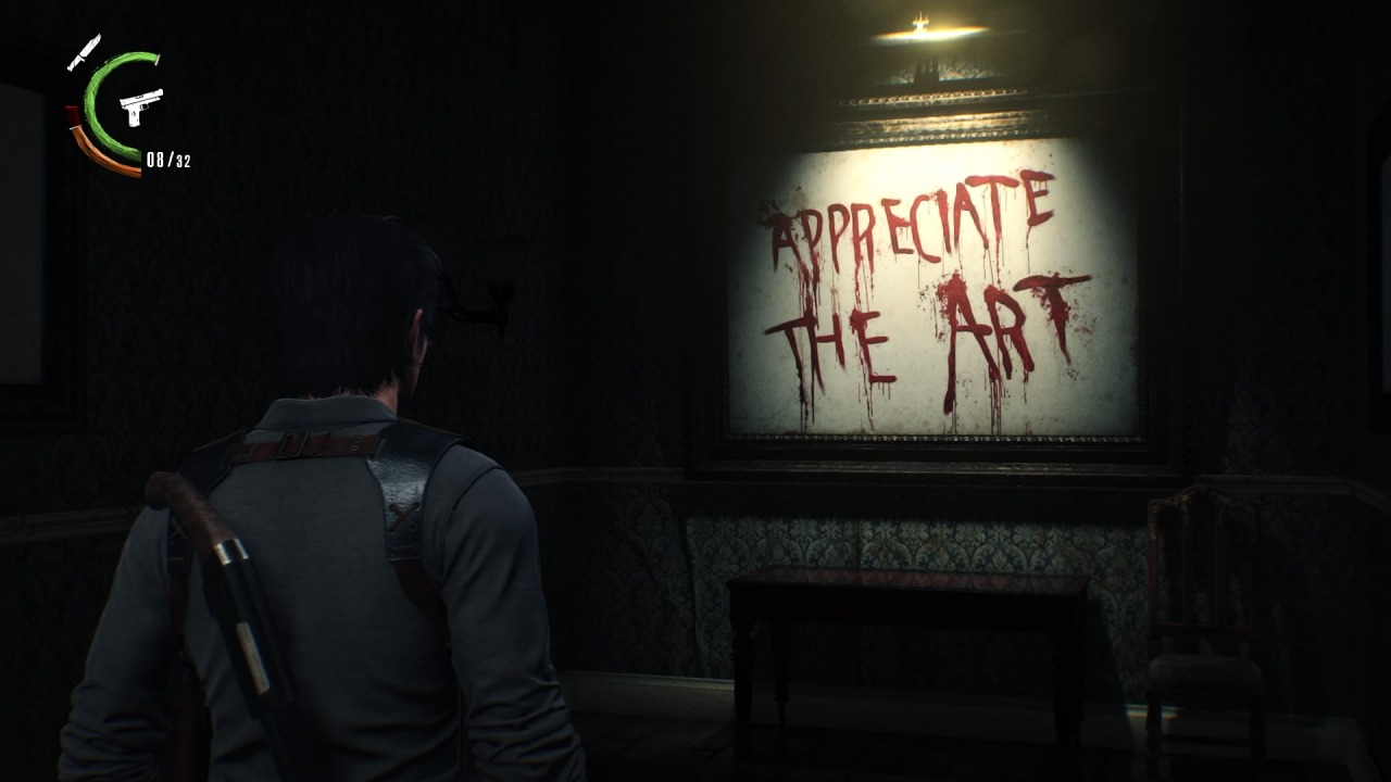 "The Evil Within 2  (Bethesda, 2017), ""Appreciate the Art"" as a command"