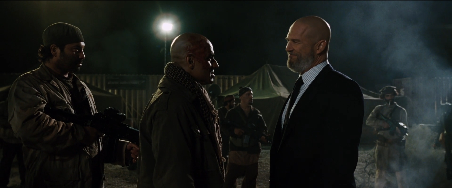 Iron Man  (2008): Obadiah Stane (right), the American as enemy