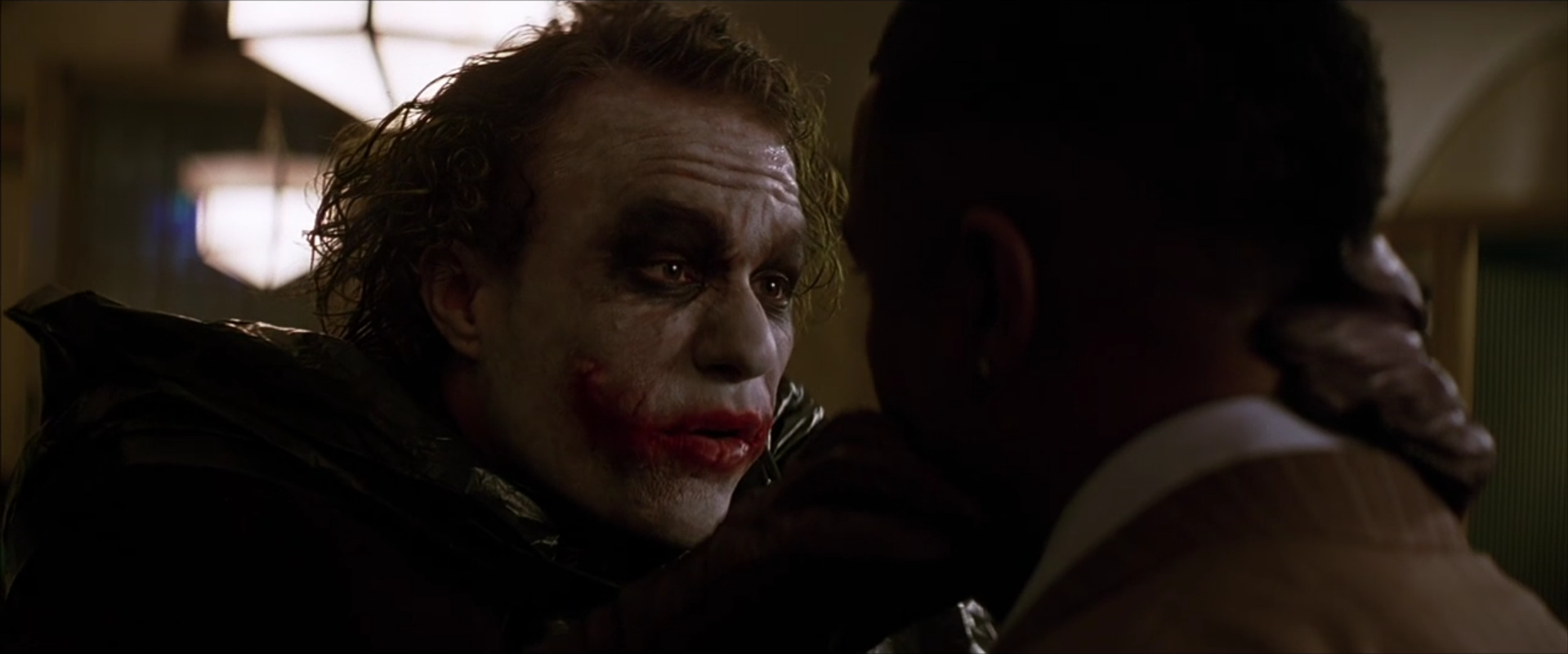 The Dark Knight  (2008): the inscrutable Joker/terrorist enemy
