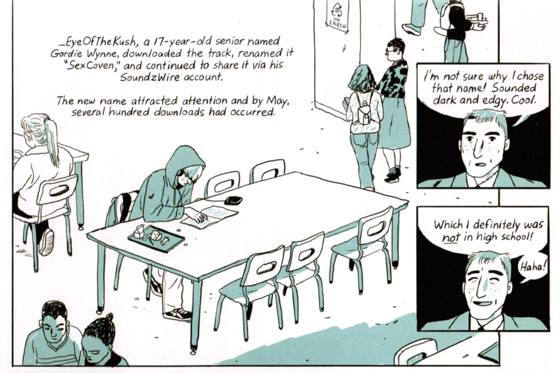 """Jillian Tamaki, """"SexCoven,"""" in  Boundless  (2017), page 183"""
