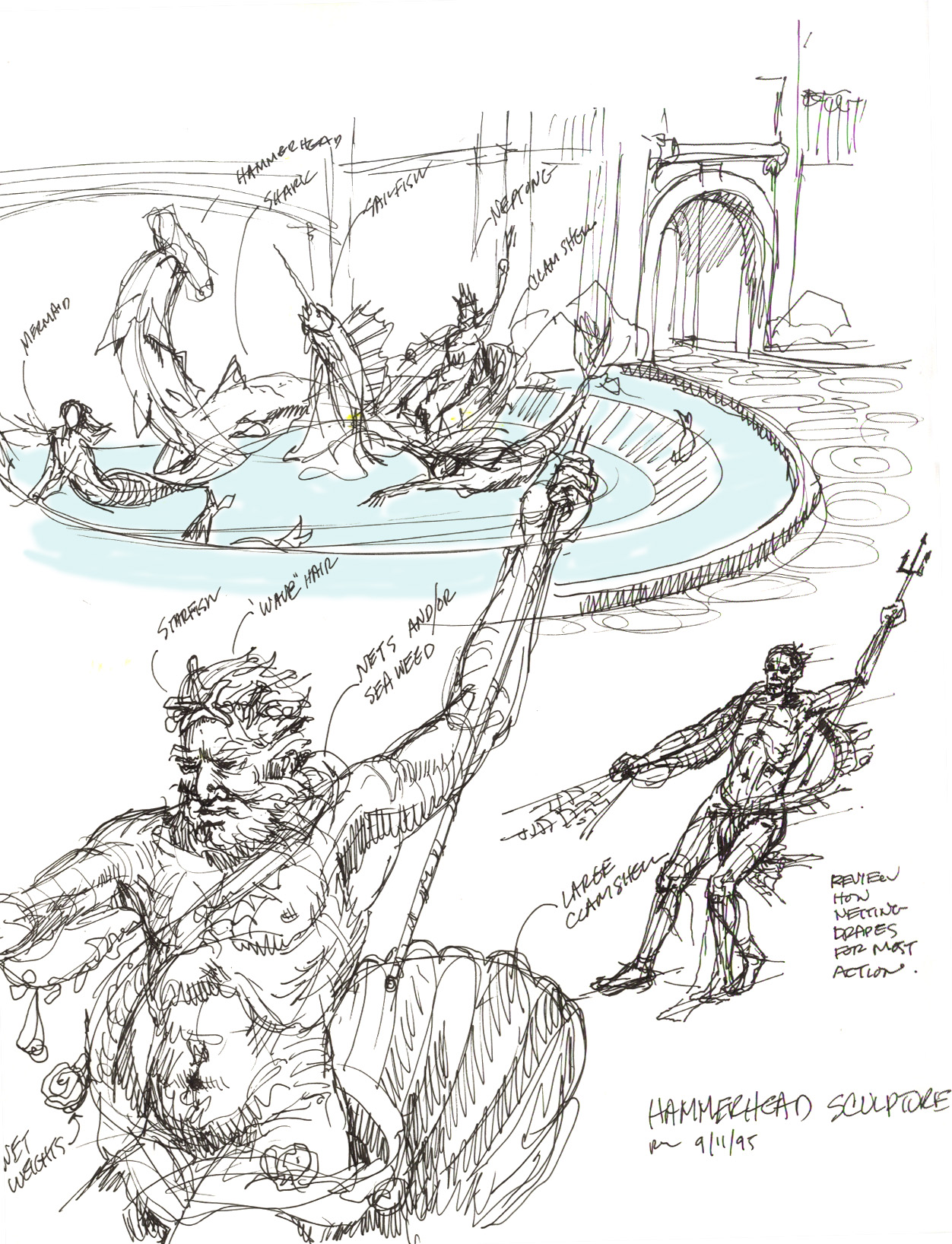 Neptune Mermaid fountain 05 3344790031[K].jpg
