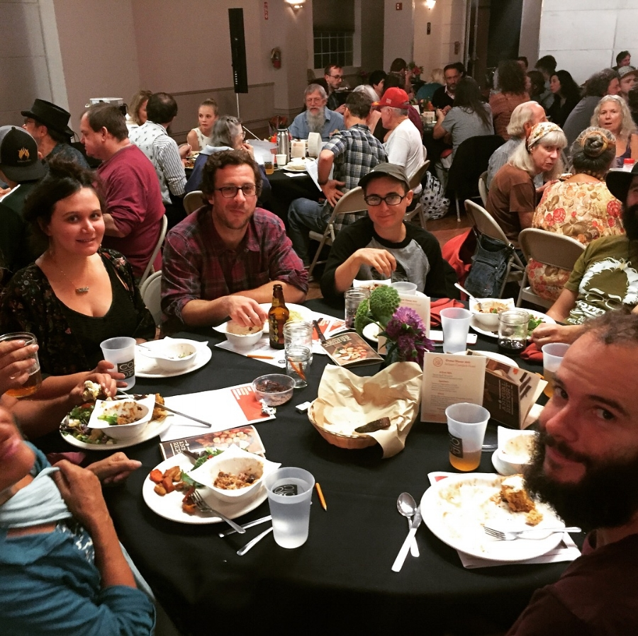 Co-op owners enjoying their meal--and each other's company!