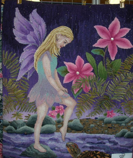 Cindy Irwin's wonderful fairy rug was there.....