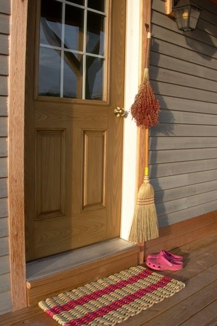 New broom.... new doormat. Welcome to Crow's Foot Farm!