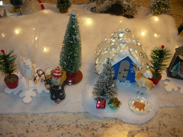 A small portion of the Christmas village.