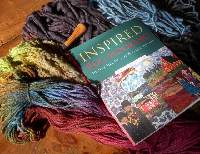 Deanne's book and some beautiful yarn I bought at her studio.