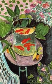 Detail from  Goldfish  by Henri Matisse, 1912.