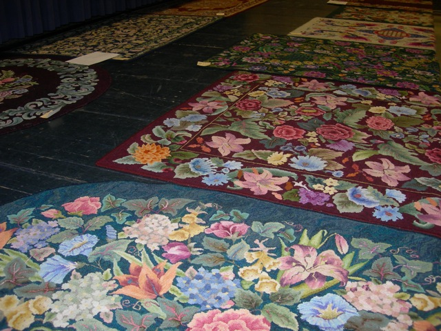 Some of Marion's large and beautiful rugs.