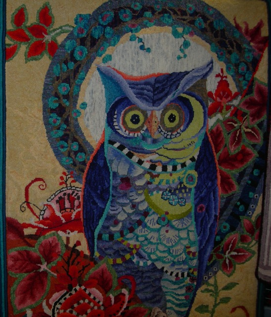 Marion's rug,  Hoot , designed by David Galchutt.
