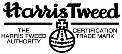 The famous orb logo of Harris Tweed.