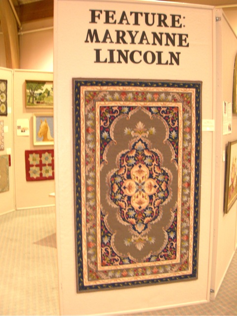 There was a special exhibit of Maryanne Lincoln's beautiful work at Sauder Village this year.