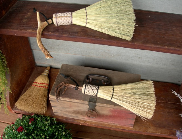 I couldn't resist a quick trip to Campbell's Broom Shoppe. Tony makes amazing brooms. I confess that I have already bought several of his turkey foot and deer antler brooms.