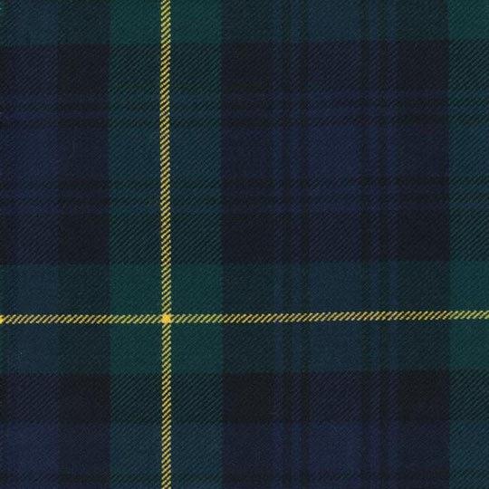A close-up of a Gordon tartan.