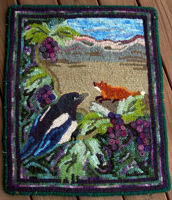The Fox and the Grapes is finished. This pattern will soon be available on the Shop page.