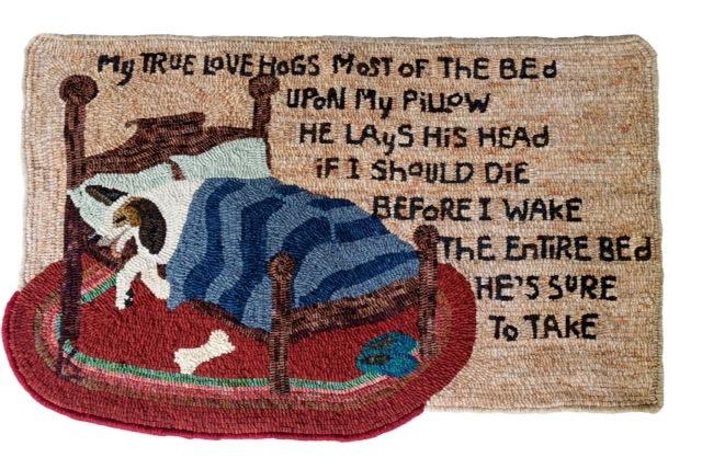 My Hutchinson-esque rug called,  My True Love.