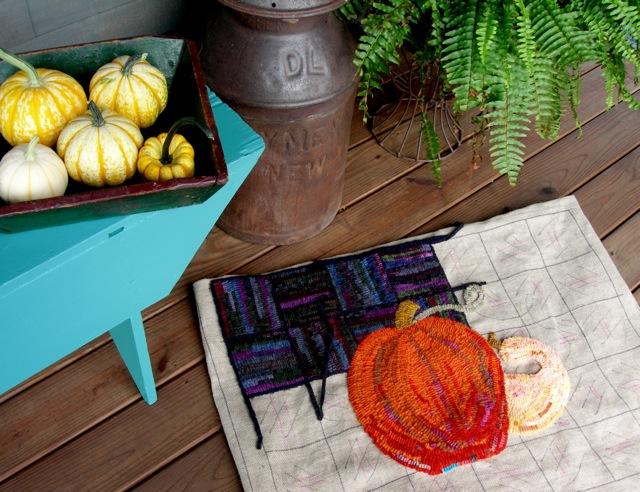 Getting a start on my new design,  Autumn Under Foot .