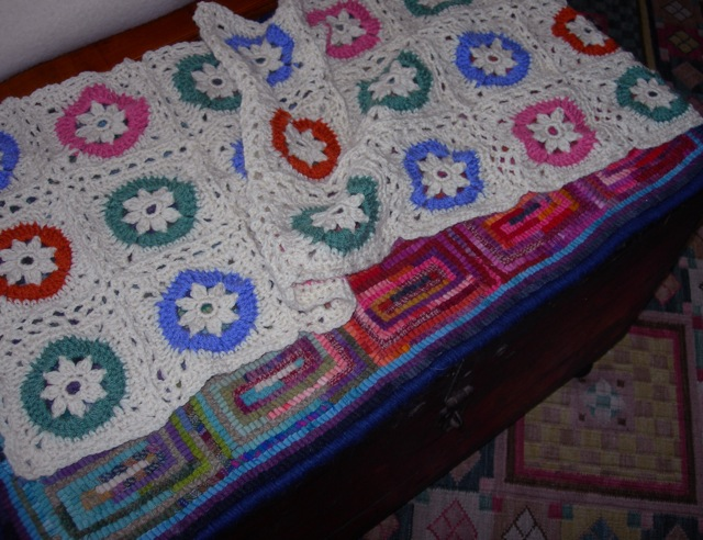 The afghan is coming along.