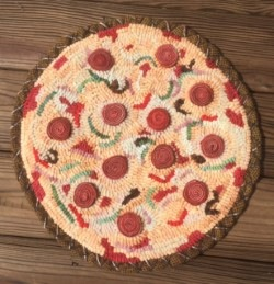 """Large Pizza - finished mat 18"""" diameter - price upon request"""