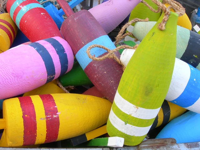 Happy colors on these buoys!