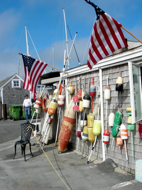 More buoys at a lunch stop.