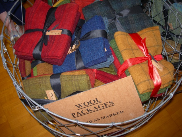 The Wool 'n Gardener's yummy bundles of wool.