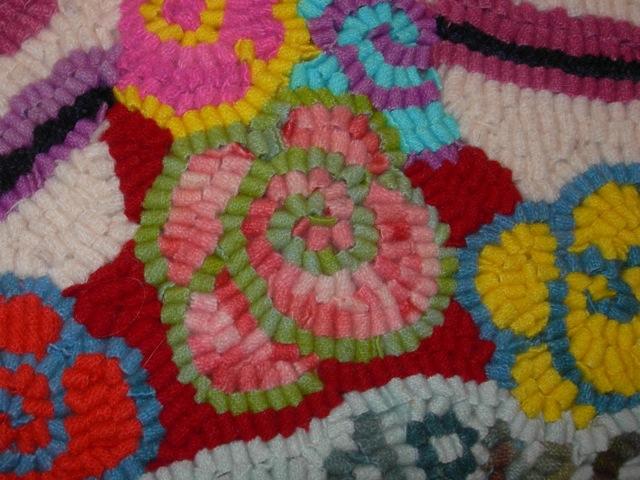 A sneak peek at the gift rug.