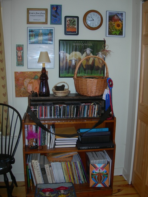 My music and reading material corner.
