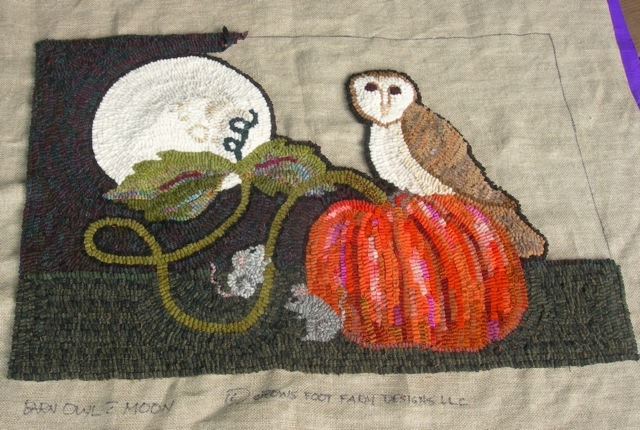 "Barn Owl with Moon 24""x 36"""