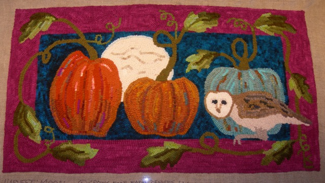 "Harvest Moon 22"" x 39"".  All ready for the binding and whipping!"