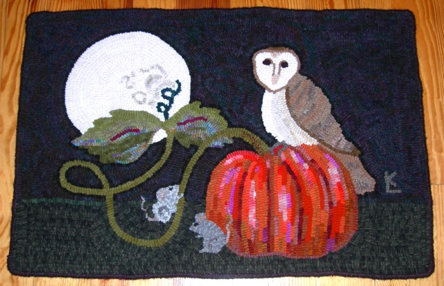 "Barn Owl with Moon2  24"" x 36"""