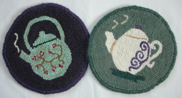 "Teapot Trivet Duo  10"" diameter each"