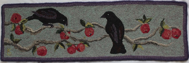 "Crows in the Apple Tree  14"" x 47"""